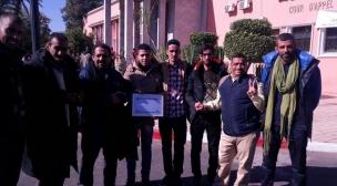 مراكش:نشطاء حقوقيون صحراويون يؤازرون معتقلي مجموعة الولي أمام المحكمة الإستئناف
