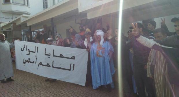 المغرب:ضحايا سياسة الوالي أبهي ينقلون إحتجاجاتهم إلى الرباط و يعتصمون أمام وزارة الداخلية