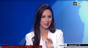 القناة الثانية المغربية:ذبابة تقتحم نشرة الأخبار و تفاجئ المذيعة على المباشر